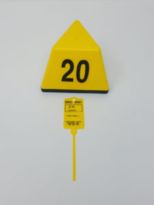 Yellow Topper and Number Tag